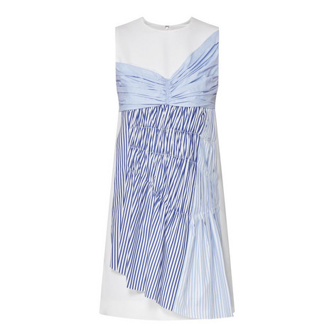 Sleeveless Stripe Panel Dress, ${color}