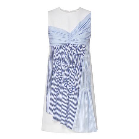 Sleeveless Stripe Panel Dress, ${color}