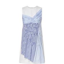 Sleeveless Stripe Panel Dress