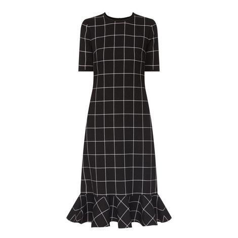 Ruffle Hem Midi Dress, ${color}