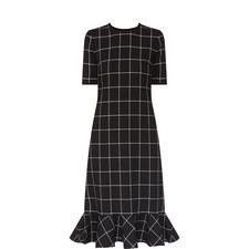 Ruffle Hem Midi Dress