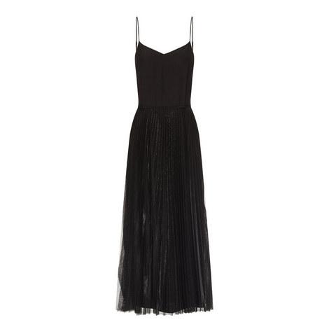 Pleated Silk Midi Dress, ${color}