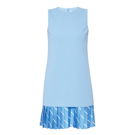 Pleated Hem Shift Dress, ${color}