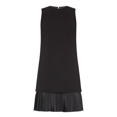 Pleated Hem Shift Dress, ${color}