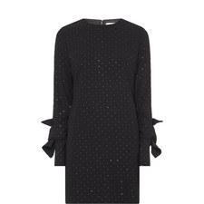 Twist Sleeve Shift Dress