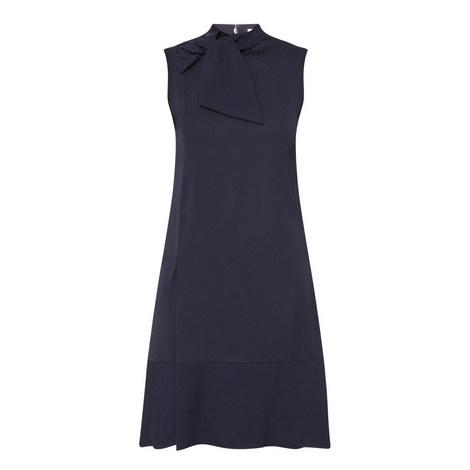 Neck Tie Shift Dress, ${color}