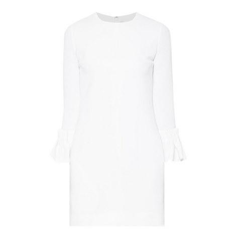 Bell-Cuff Crêpe Mini Dress, ${color}