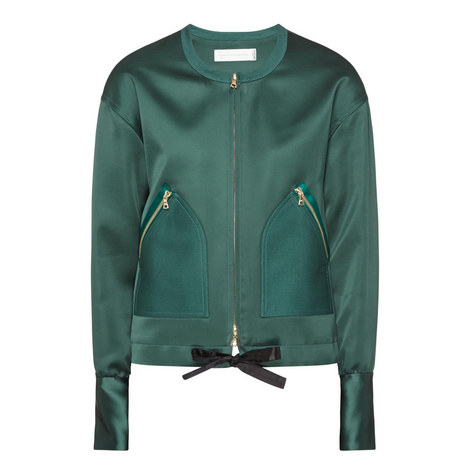 Collarless Bomber Jacket , ${color}
