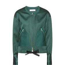 Collarless Bomber Jacket