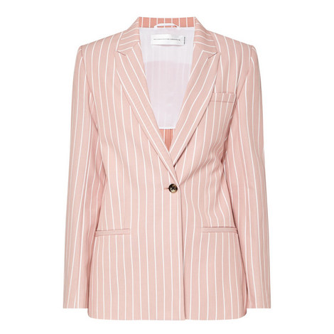 Stripe Tailored Jacket, ${color}