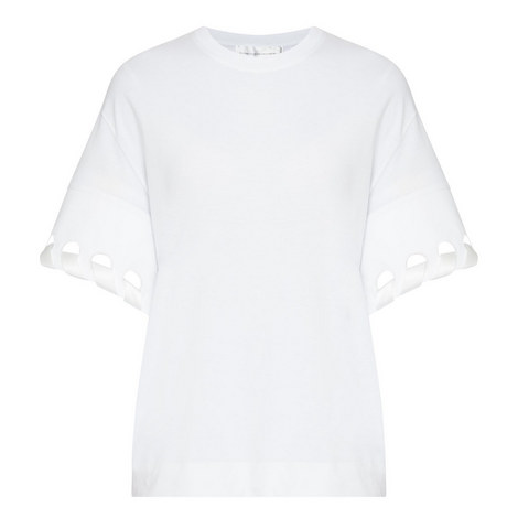 Lace Sleeve T-Shirt, ${color}