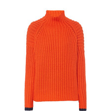 Relaxed Fit Polo Neck Sweater
