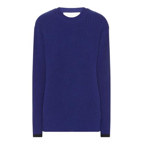 Boyfriend Round Neck Sweater, ${color}