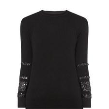 Contrast Cuff Sweater