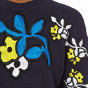 Flower Appliqué Sweater , ${color}