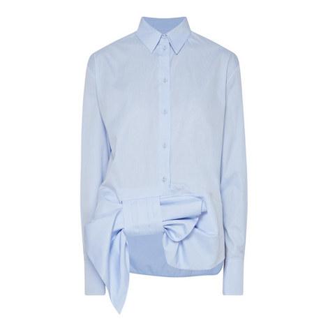 Asymmetric Bow Shirt, ${color}