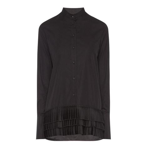 Pleated Hem Shirt, ${color}