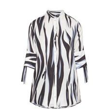 Tie Sleeve Silk Shirt