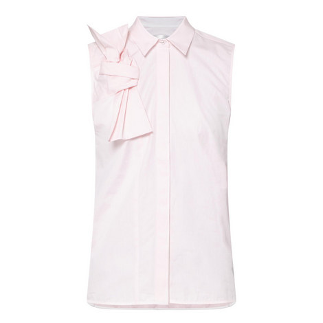 Sleeveless Bow Shirt , ${color}