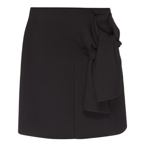 Tie Front Skirt, ${color}