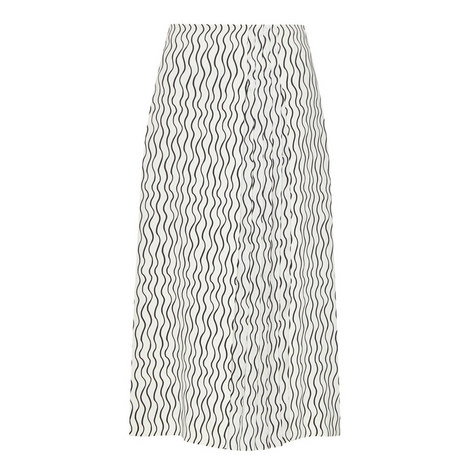 Pleated Scribble Skirt, ${color}