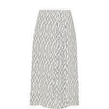 Pleated Scribble Skirt