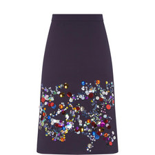 Sequin Detailed Pencil Skirt