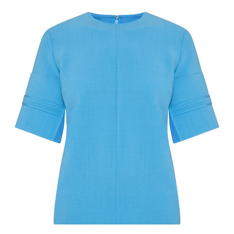 Sponge Stitch Sleeve Top , ${color}