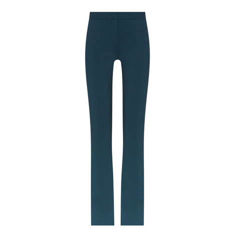 Flared Wool Trousers, ${color}
