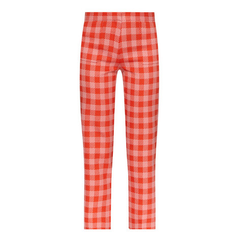 Gingham Cropped Trousers, ${color}