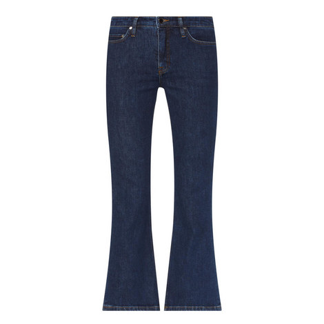 Flared Cropped Jeans, ${color}