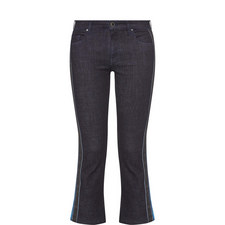 Side Stripe Flare Jeans
