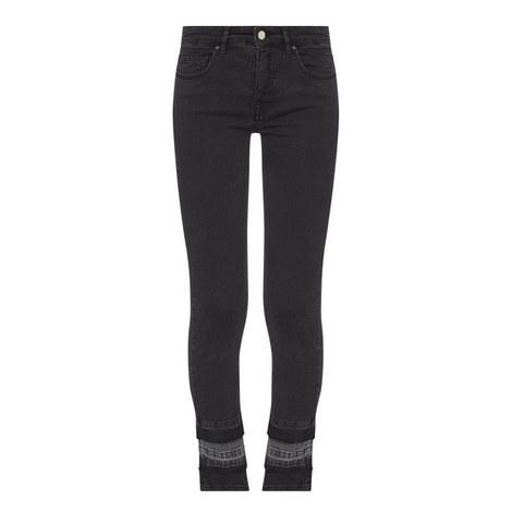 Slim Ankle Patch Jeans, ${color}