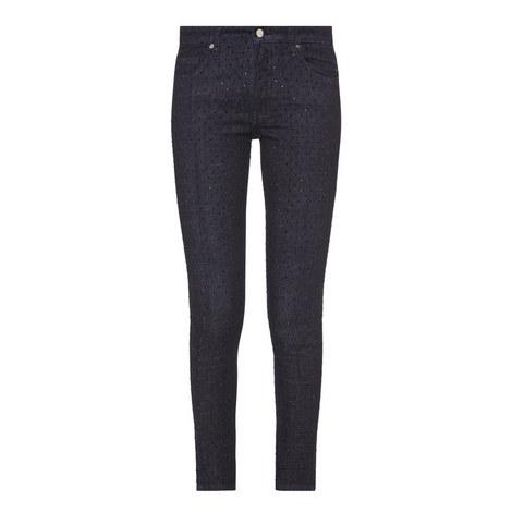 Embellished Front Cropped Jeans, ${color}
