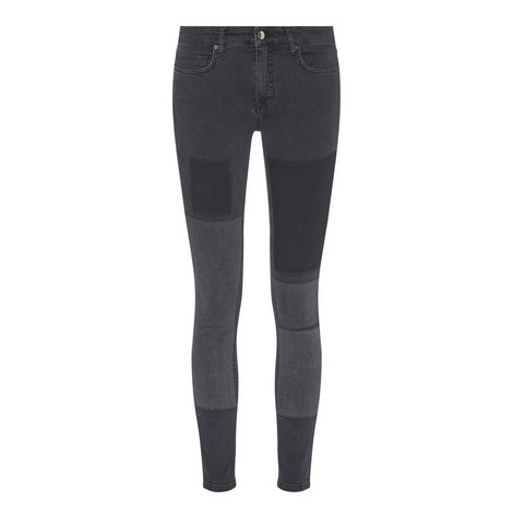 Patchwork Skinny Jeans, ${color}
