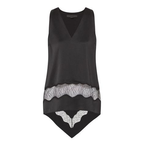 Asymmetrical Silk Top, ${color}