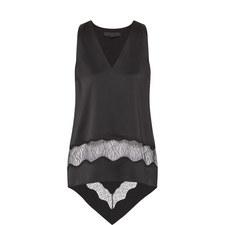 Asymmetrical Silk Top