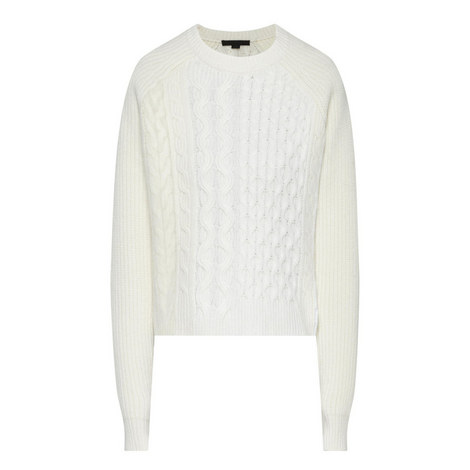 Angora Cropped Knitted Sweater, ${color}