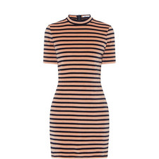 Short Sleeve Stripe Dress