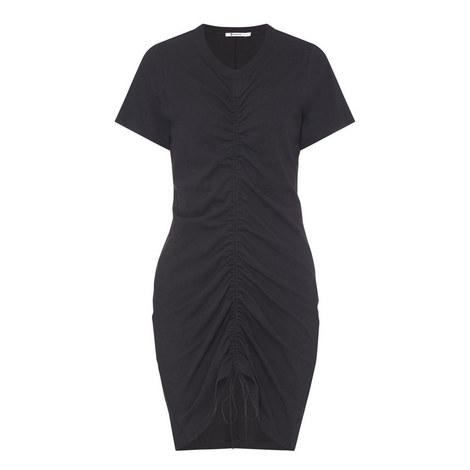 Short Sleeve Twist Mini Dress, ${color}