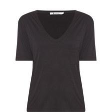 Cropped Short-Sleeved Pocket T-Shirt