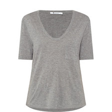 Scoop Neck Cropped T-Shirt