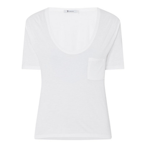 Scoop Neck Cropped T-Shirt, ${color}