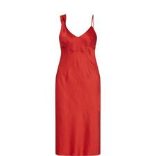 Cherry Twist Shoulder Slip Dress