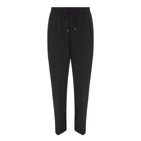 Crêpe Drawstring Trousers, ${color}