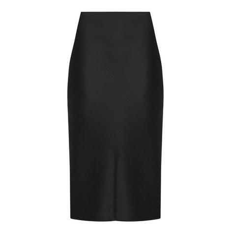 Satin Straight Skirt, ${color}