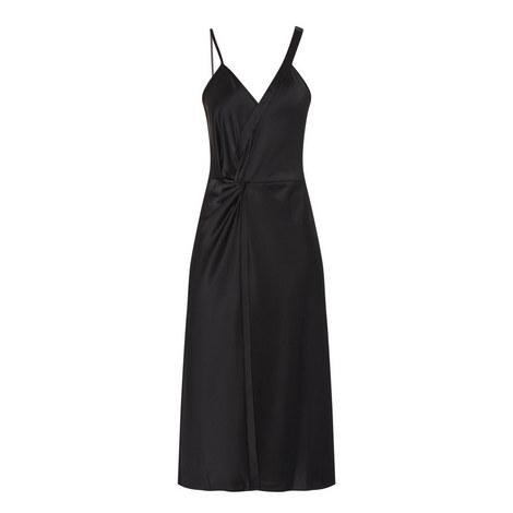 Satin Drape Dress, ${color}