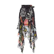 Alanis Ruffle Print Skirt