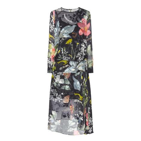 Hayley Drop Waist Printed Dress, ${color}