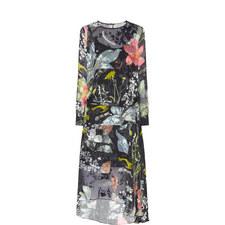 Hayley Drop Waist Printed Dress